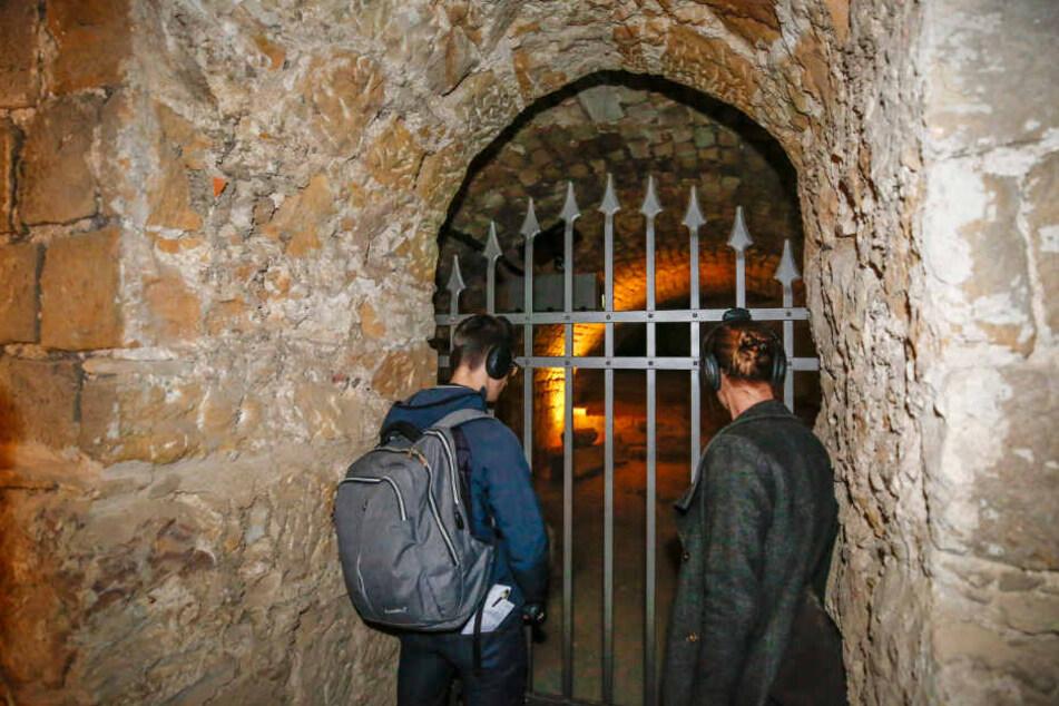 Hinter dieser Tür können Besucher Sachsens berüchtigten Räuber Lips Tullian (1675-1715) erleben.