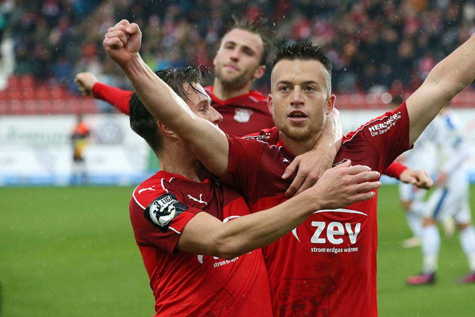 Patrick Göbel erzielte das 1:0 für Zwickau