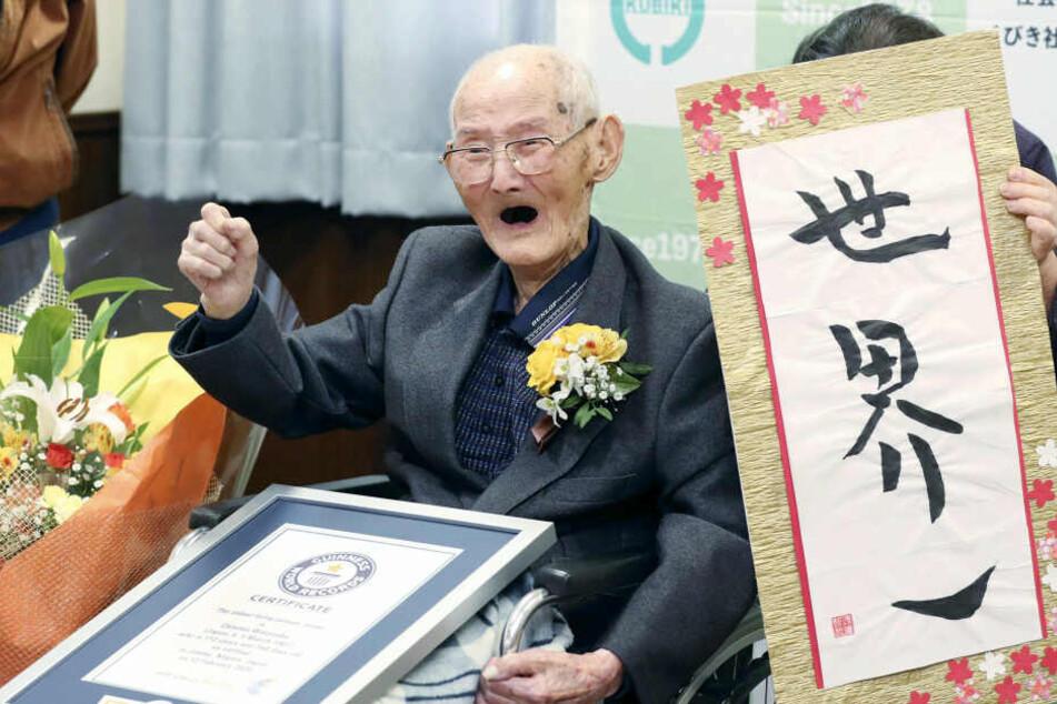 Chitetsu Watanabe (112) ist der älteste Mann der Welt.