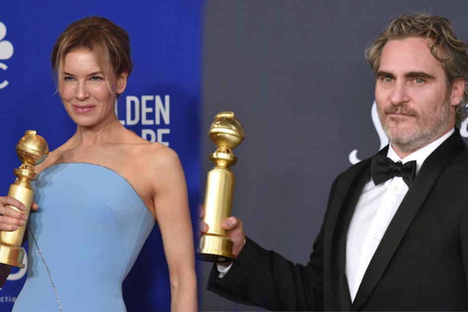 Renée Zellweger und Joaquin Phoenix konnten sich über ihre Preise freuen.