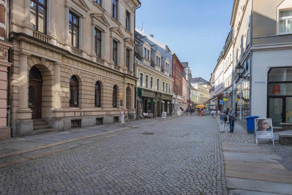 Noch sieht die Buchholzer Straße in der Annaberger Innenstadt trist aus.
