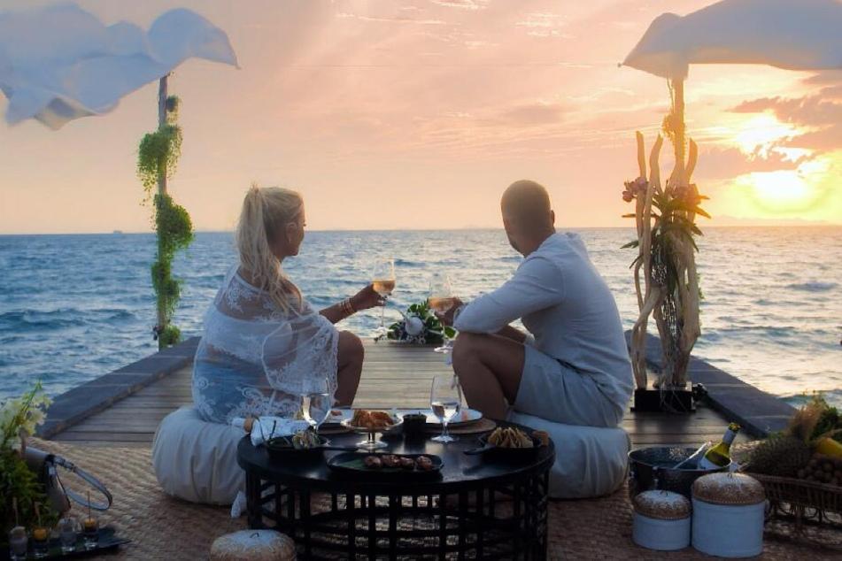 Jade und Filip bei ihrem romantischen Date.