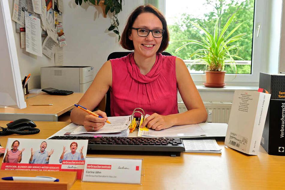 Sie berät Bürger bei Problemen mit Produkten: Corina Jähn (31) von der Verbraucherzentrale Chemnitz.