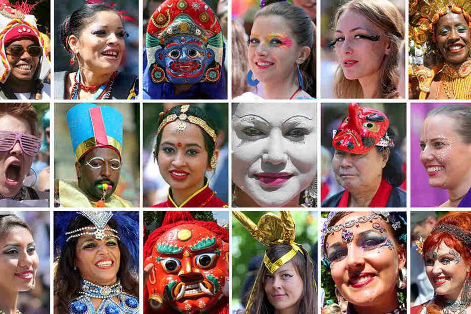 Der Karneval der Kulturen lockt die buntesten Charaktere an.