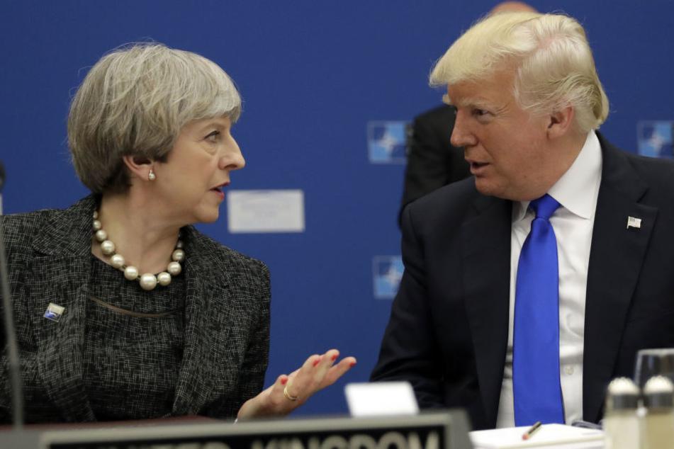 Die Veröffentlichung von heiklen Details zum Anschlag hat einen handfesten Krach zwischen Theresa May und Donald Trump ausgelöst.