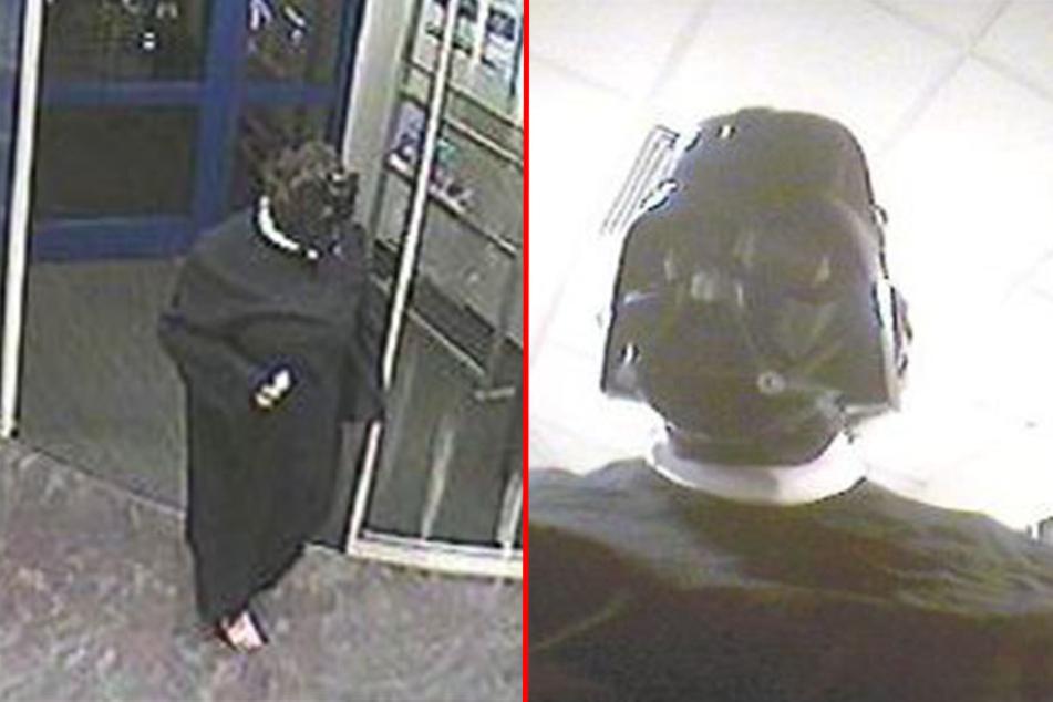 Auf Bildern einer Überwachungskamera war der Täter eindeutig als Darth Vader zu erkennen.