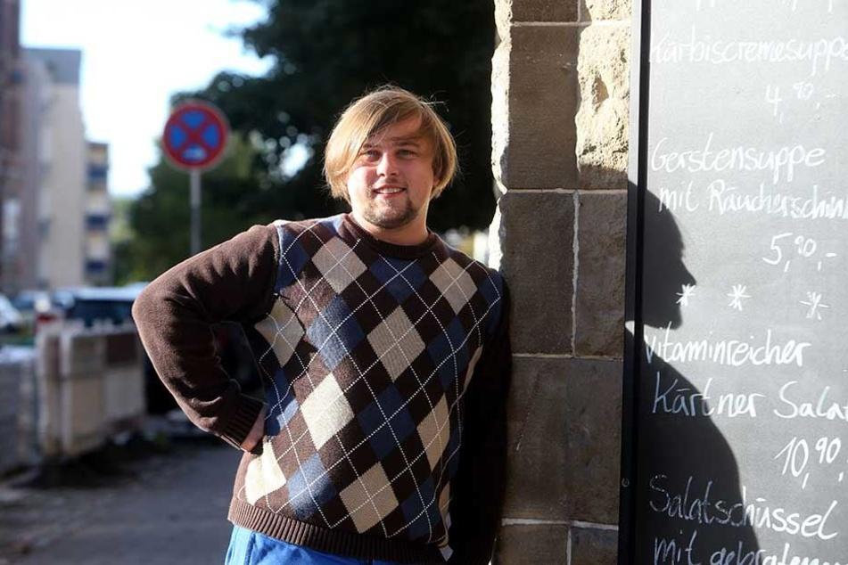 Stadtteilmanager René Bzdok (30) sorgt sich um die Sonnenberg-Bewohner mit wenig Geld.