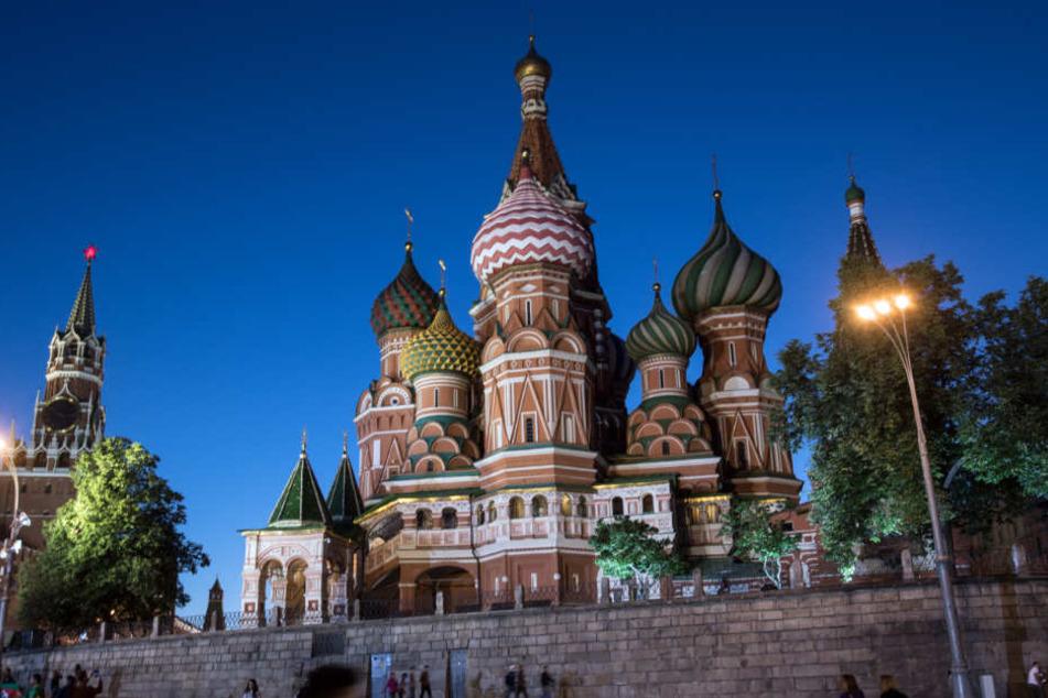 Die Moskauer Tage in Leipzig geben bis zum Dienstag Einblicke in die Kultur und Architektur der russischen Metropole. Im Bild: Der Kreml in Moskau.