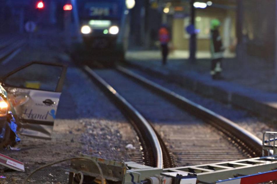 Am Bahnhof in Bischofswerda stellte sich der 22-Jährige quer.
