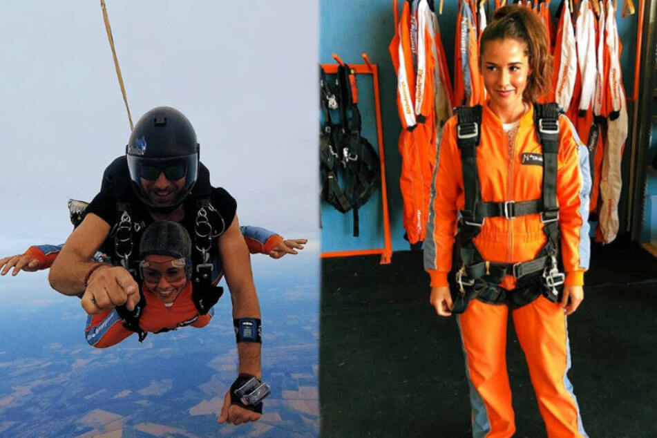 Sarah Lombardi (26) hatte Roberto einen Fallschirmsprung zu Weihnachten geschenkt.