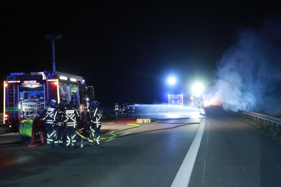 Die Freiwilligen Feuerwehren Wilsdruff und Klipphausen waren im Einsatz und löschten den Brand.
