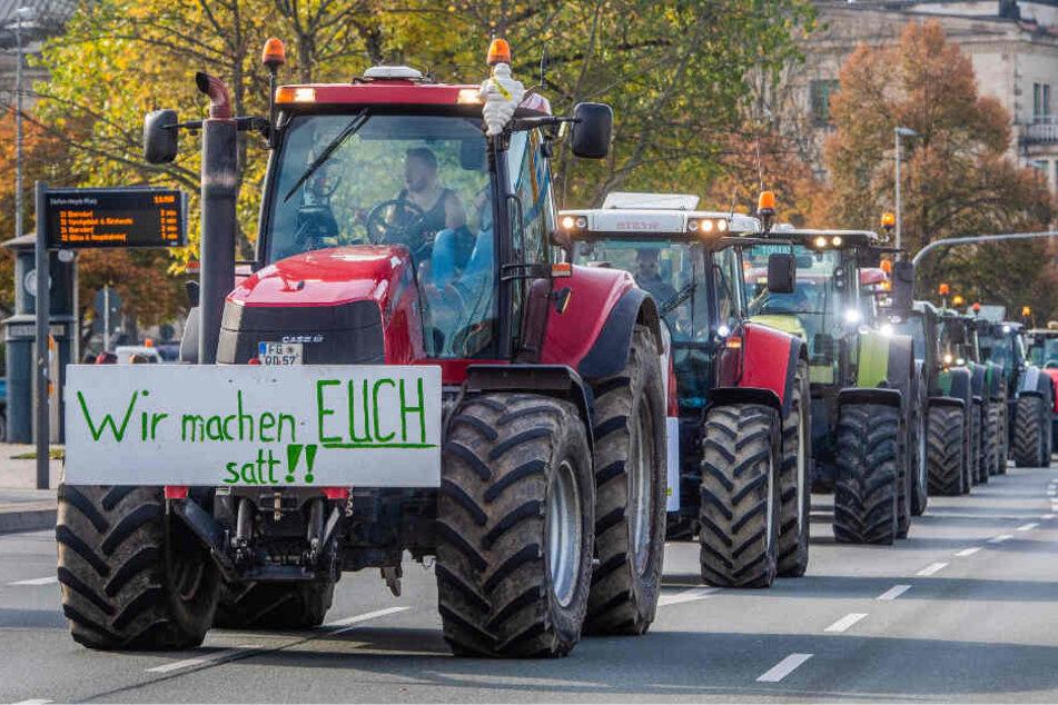 Chemnitz: Bauern-Aufstand: Warum Dutzende Trecker in Chemnitz demonstrieren