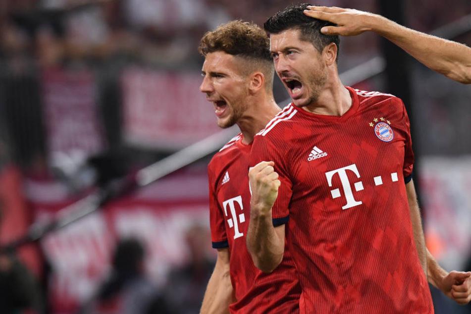 Robert Lewandowski erzielte einen Treffer für den FC Bayern München.
