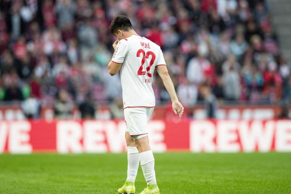 Für Jorge Meré war das Spiel wegen eines Platzverweises nach 41 Minuten beendet.