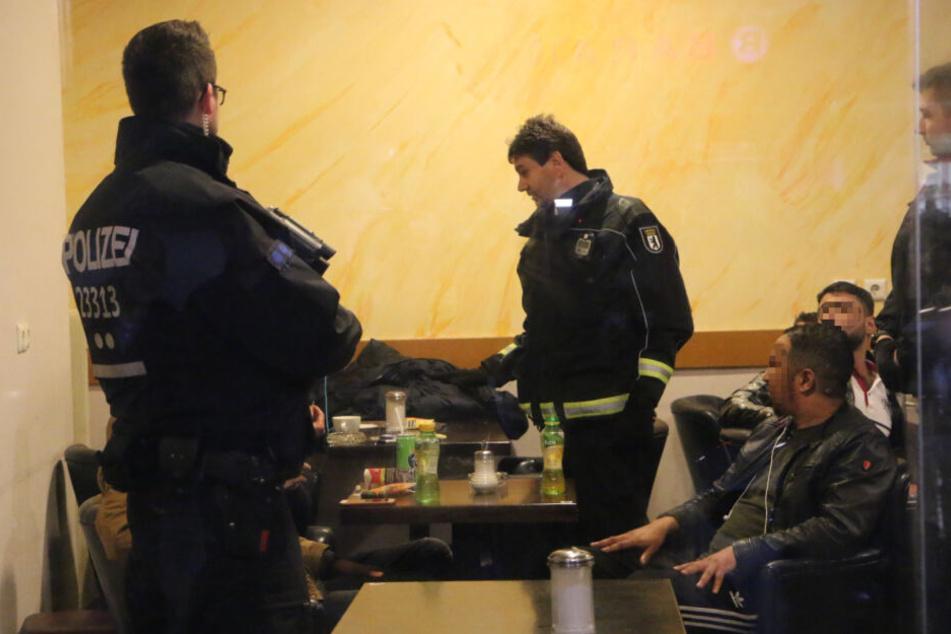 Die Razzia in einem Shisha-Café.
