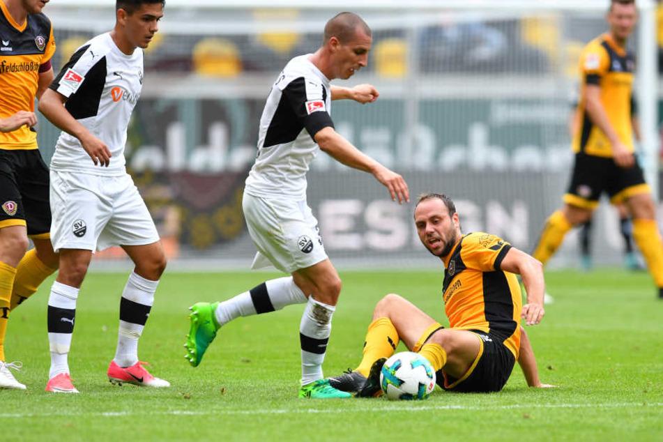 Stand zwar in der Startelf, konnte seinen Sandhausen-Fluch aber nicht besiegen: Rico Benatelli.