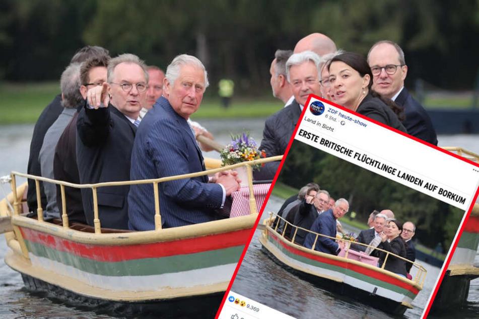 Eigentlich wollten Charles und Camilla nur ihren Ausflug im Wörlitzer Gartenreich genießen.