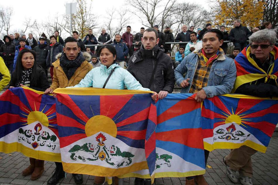 Auch in Frankfurt rechnen Experten mit Tibet-Aktivisten.