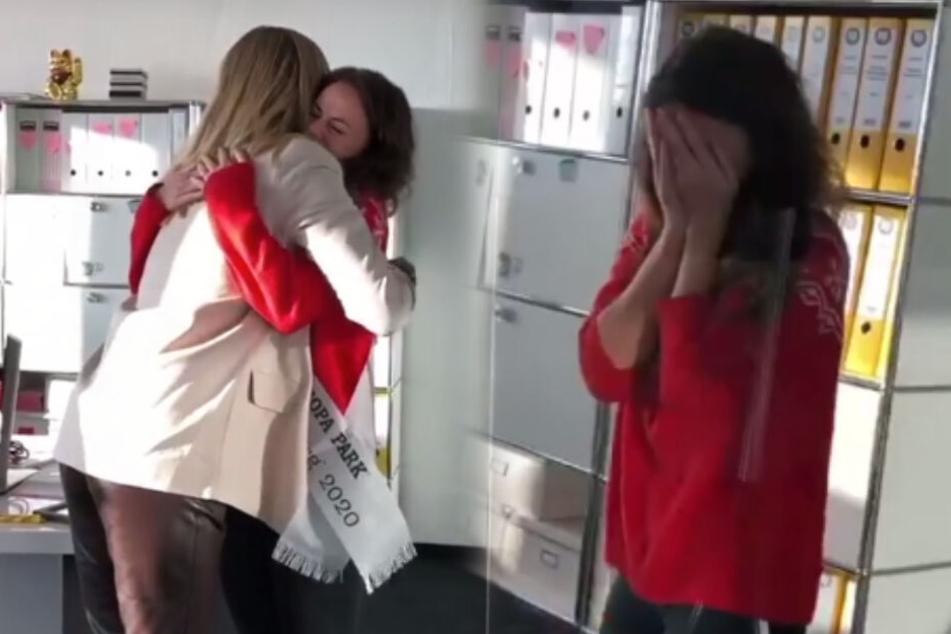 Die Gefühle gehen mit ihr durch: Jessica bekommt Besuch von Nadine Berneis.