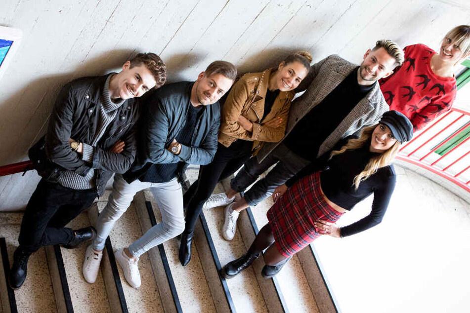 Die Lehrer der Erich-Felber-Gesamtschule (l.-r): Jan, Dietrich, Daniela, Max, Thea und Sara.