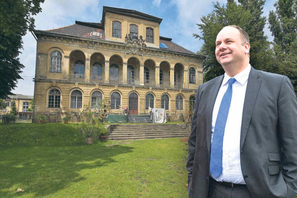 Drama um Dresdner Barockschloss: OB Hilbert macht Übigau zur Chefsache