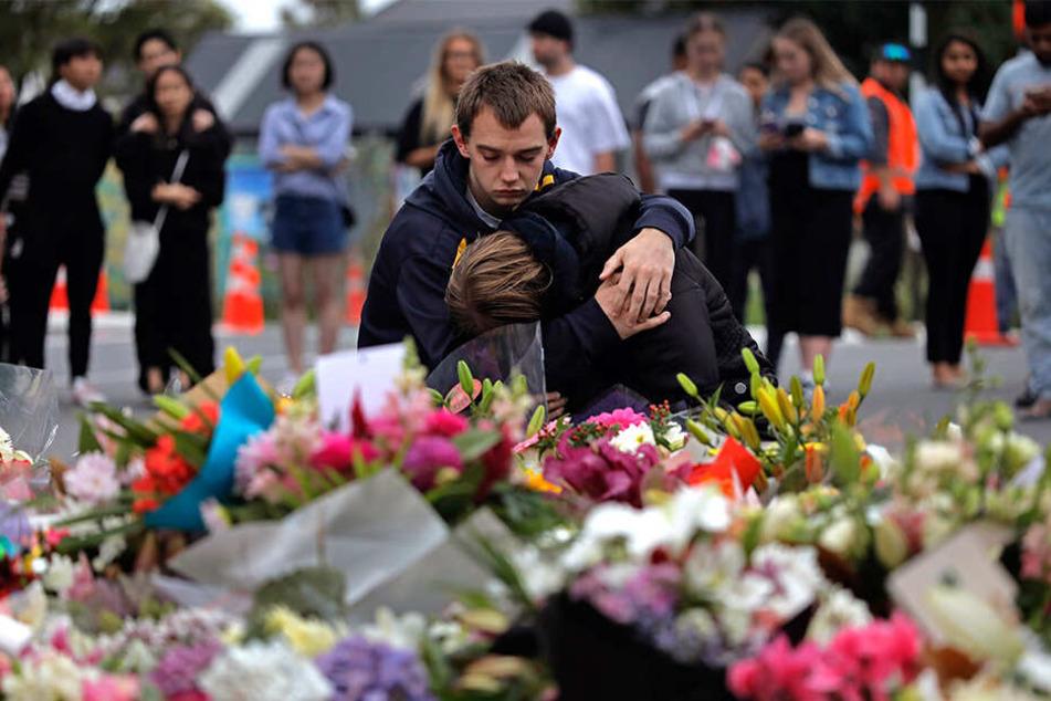 Einen Tag nach dem Terroranschlag auf Moscheen in Christchurch ist das Entsetzen immer noch groß.