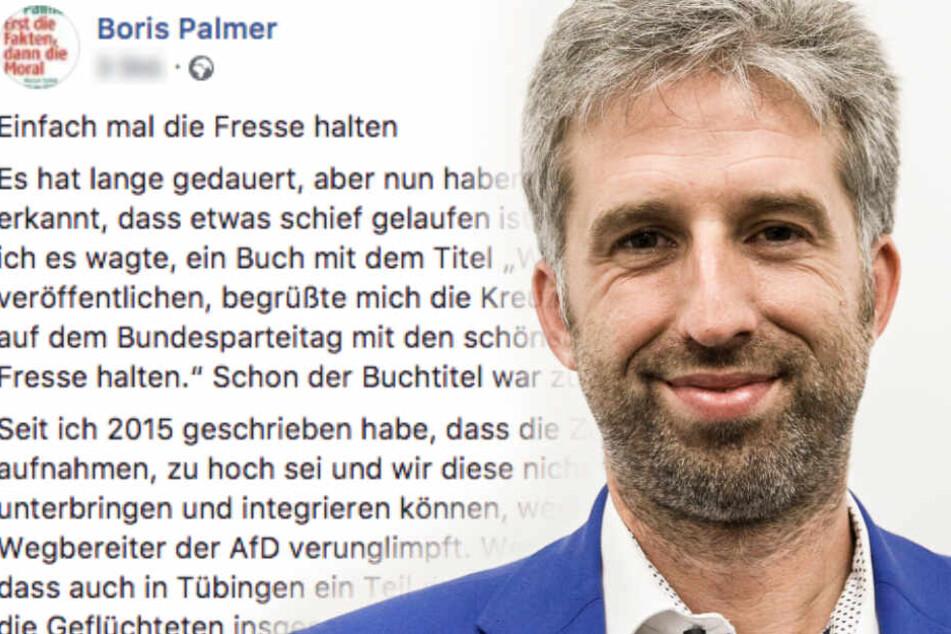 Meinungsfreiheit in Deutschland: Das fordert Boris Palmer jetzt!