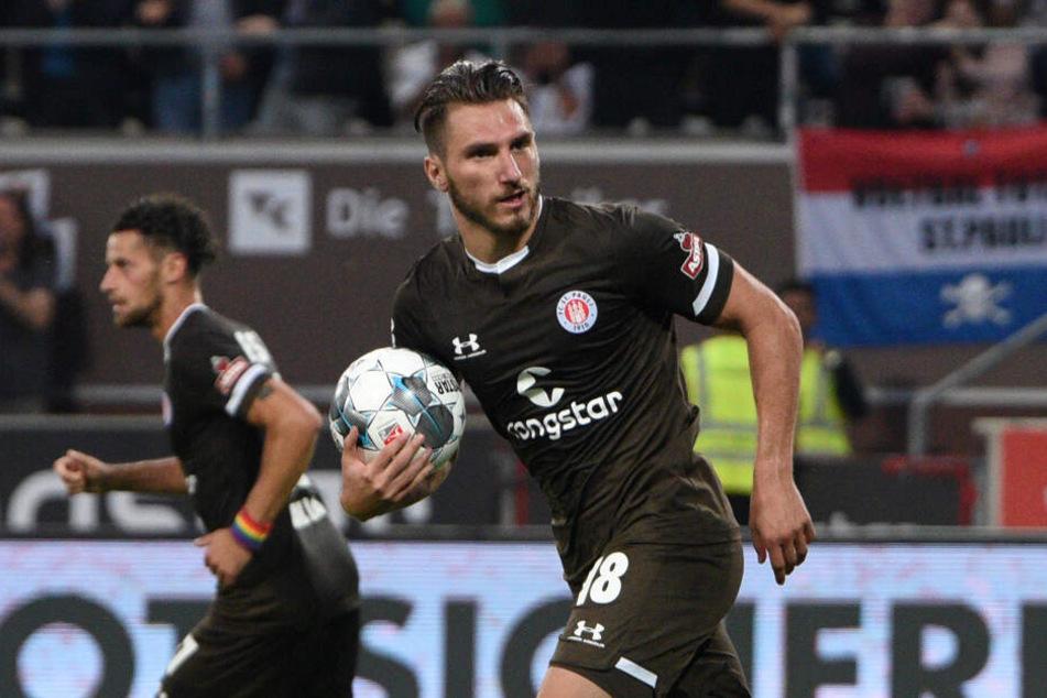 Dimitrios Diamantakos ist in dieser Saison St. Paulis bester Torschütze.