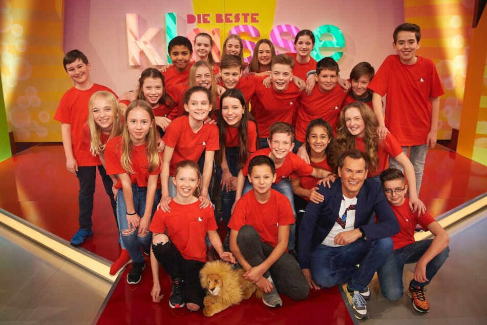 Malte Arkona mit der Klasse 6a vom Musikalisch-Sportlichen Gymnasium Leipzig