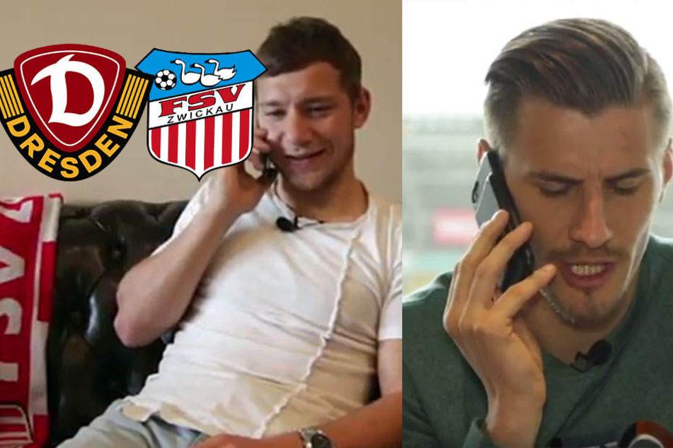 So witzig machen Dynamo und der FSV fürs Benefizspiel mobil