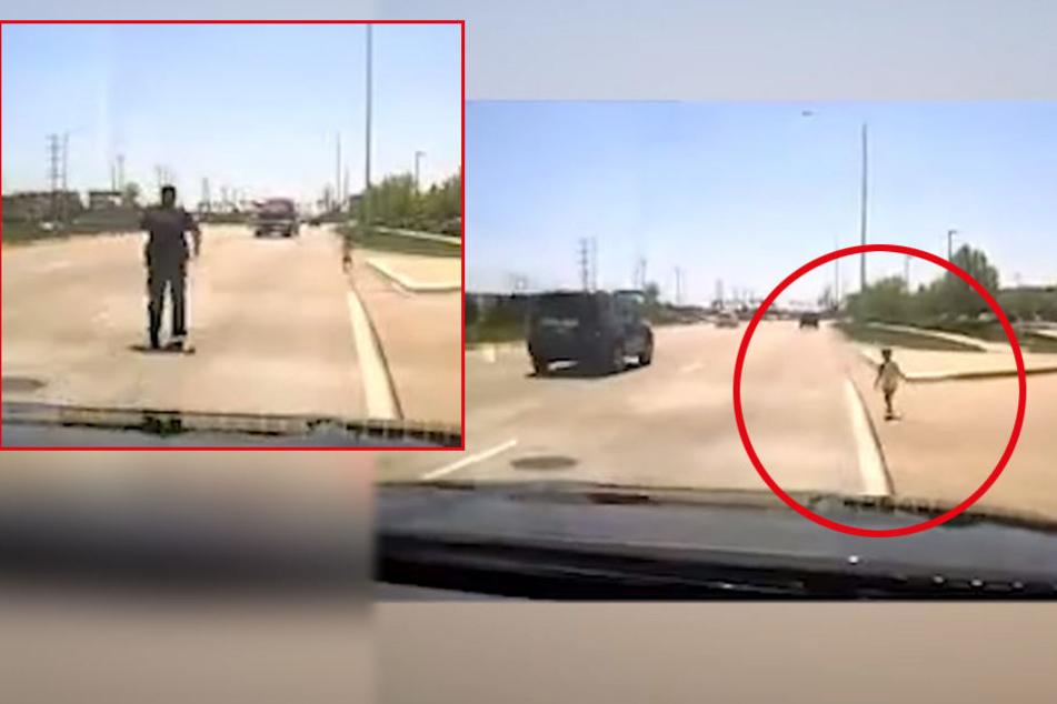 Was für ein Held! Polizist rettet Kind (1) auf Highway vor dem sicheren Tod