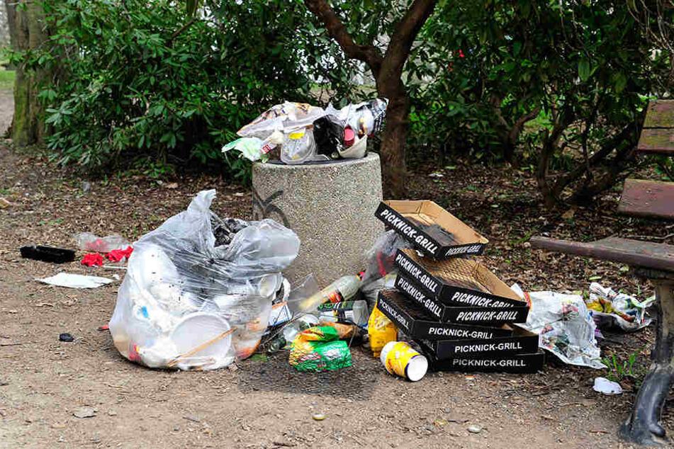 Schönes Wetter? Raus zum Grillen! Tolle Sache, nur ihren Müll lassen viele einfach liegen.
