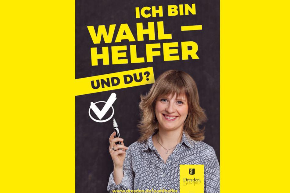 Romy Helbig (28) ist eins von vier Kampagnengesichtern der Dresdner  Wahlhelfer.