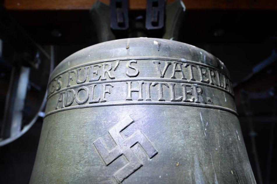 In Herxheim hing diese Glocke, die für Schlagzeilen gesorgt hatte.