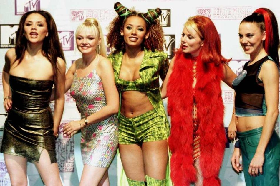 """Die britische Popgruppe """"Spice Girls"""" - von links Victoria, Emma, Mel B., Geri und Mel C. im Jahr 2007."""