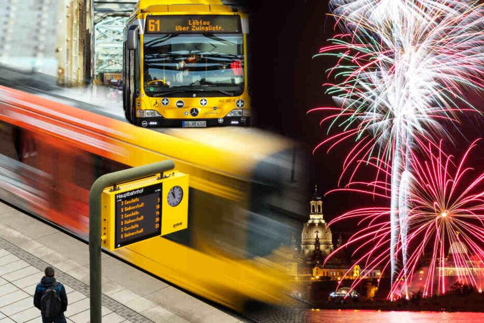 Dresden: So fahren Bus und Bahn an Silvester