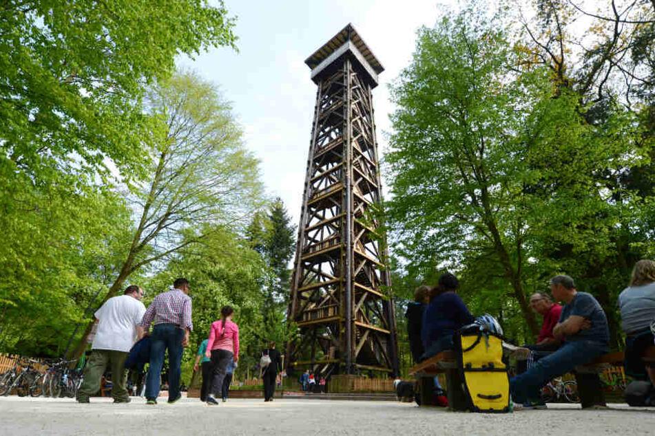 """Ein Bild aus alten Tagen: Der """"alte"""" Goetheturm wurde 2017 Opfer eines Brandstifters."""