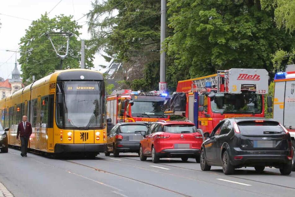 Ein Riesenstau bildete sich Donnerstagnachmittag gegen 16.45 an der Bautzener Landstraße.