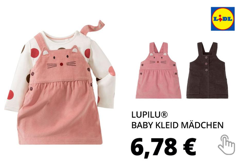 LUPILU® Baby Kleid Mädchen, mit verstellbaren Trägern