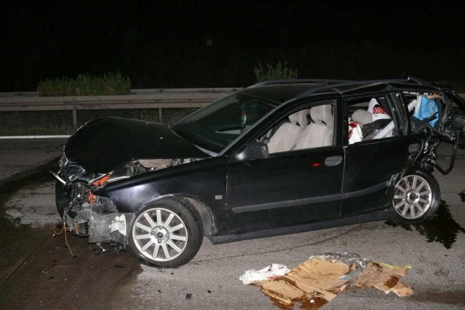 Ein Tier hatte Samstagnacht auf der A14 für einen schweren Unfall gesorgt.