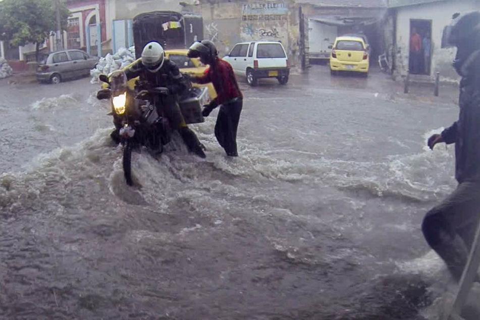 Das Wetter hielt einige Überraschungen für die Abenteurer bereit - etwa sintflutartige Regenfälle.