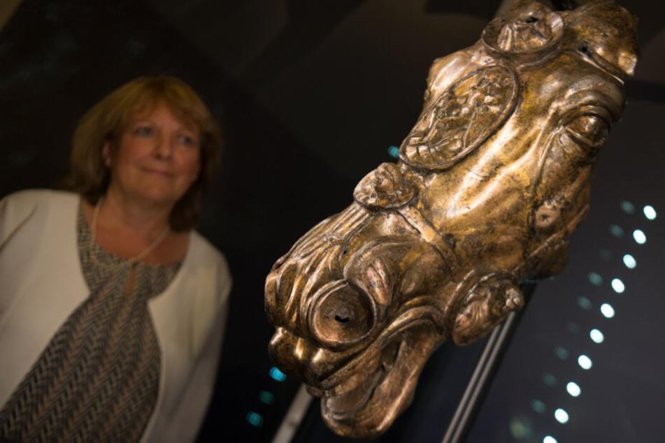 Der vergoldete Pferdekopf steht mittlerweile im Museum.