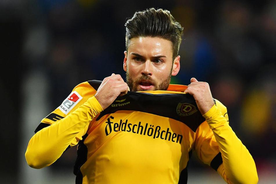 Sein 100. Spiel für Dynamo hat er am Sonntag bestritten, am Dienstag seinen 25. Geburtstag gefeiert - ein Sieg morgen bei Armina Bielefeld würde Niklas Kreuzers persönliches Triple perfekt machen.