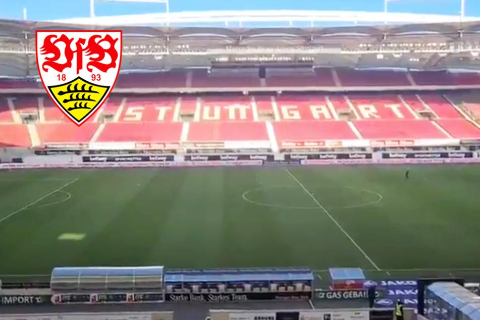 Dem VfB fehlen die Fans im Stadion, doch einer hält für alle die Stellung