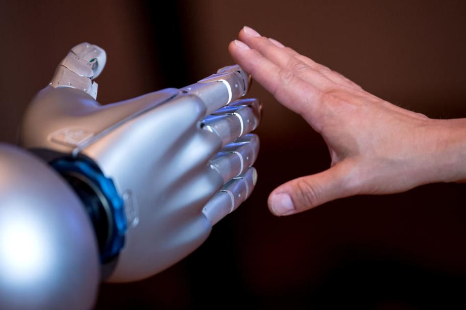 """Die beiden humanoiden Roboter """"Pepper"""" und """"Peppa"""" werden am Mittwoch im August-Stunz-Altenzentrum vorgestellt."""