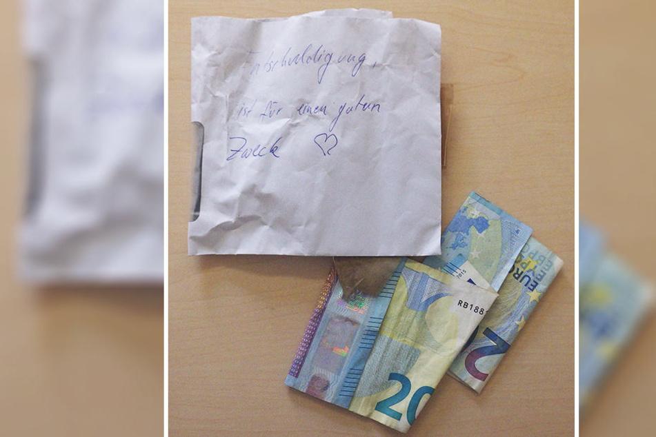 Vierzig Euro und einen Entschuldigungsbrief hinterließ der Dieb.