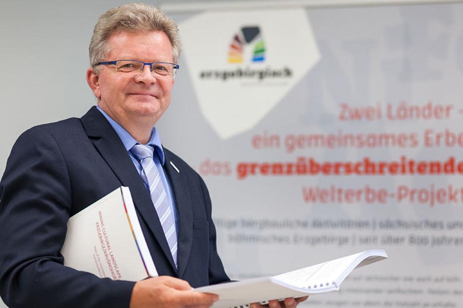 Matthias Lißke (57), Chef der Wirtschaftsförderung Erzgebirge, koordiniert die Welterbe-Bewerbung.