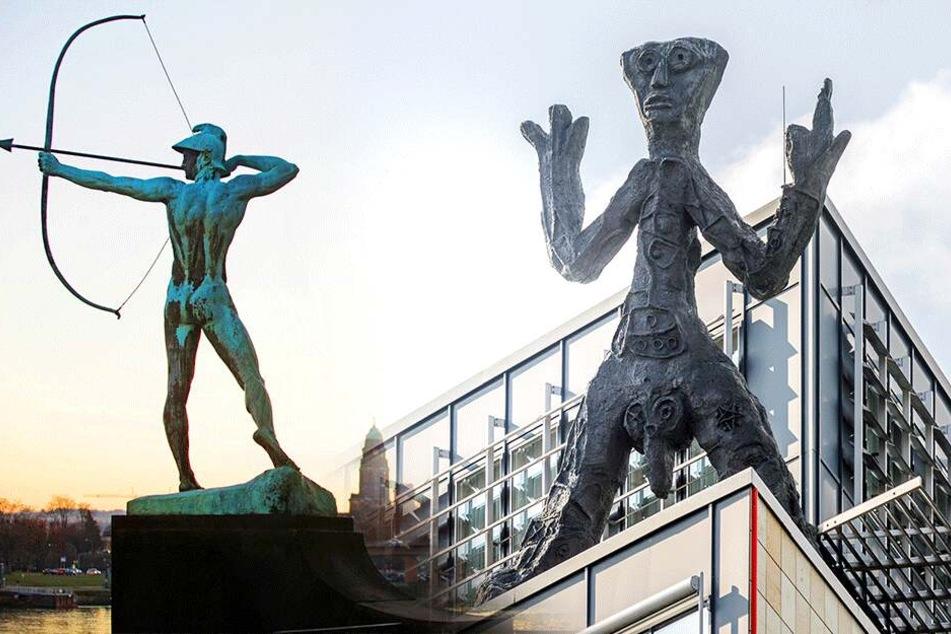Achtet auf die Figur! Wer kann folgende sieben Dresdner Skulpturen richtig zuordnen?