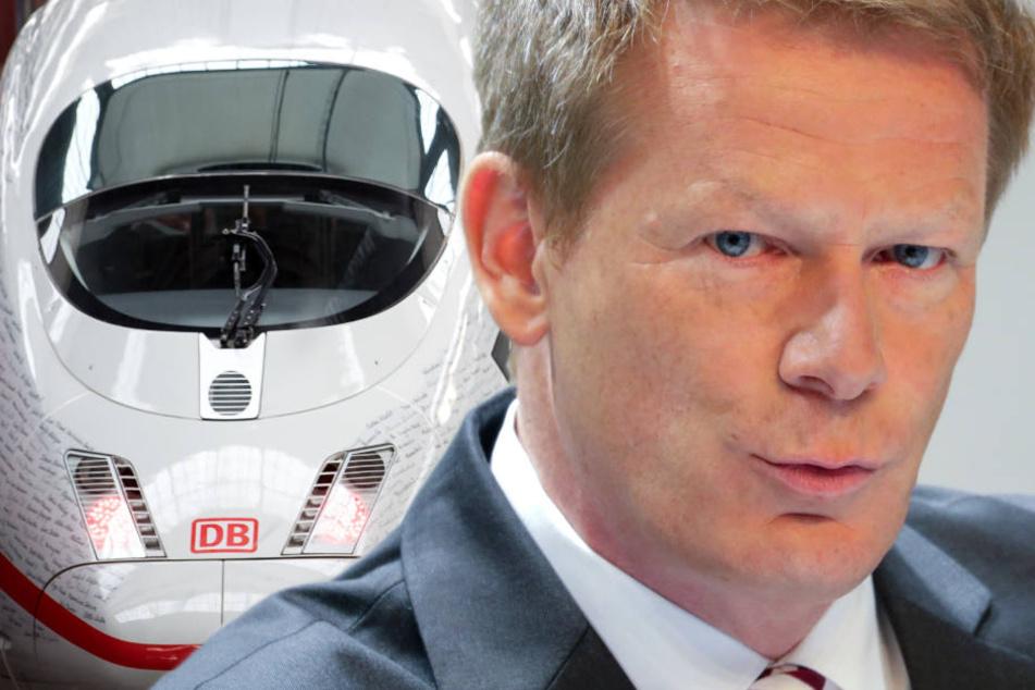 Lutz denkt an einen Ausbau nach und will damit Auto und Flugzeug zunehmend den Rang ablaufen. (Bildmontage)