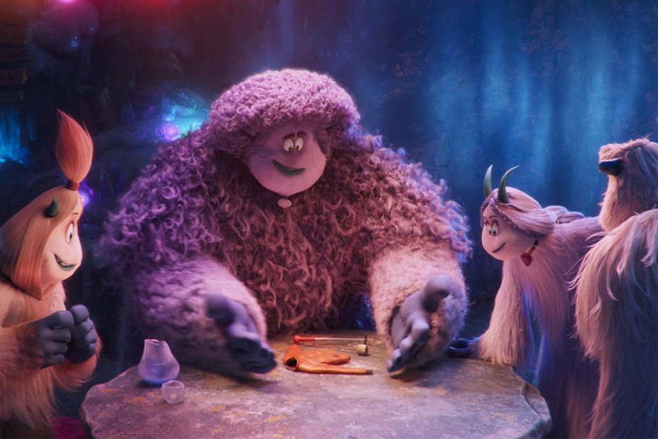 Migo (r.) und seine knuffigen Yeti-Freunde glauben an die Existenz der Smallfoots.